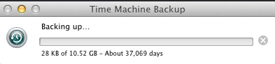 thirty seven thousand days for a backup?