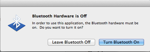 Bluetooth is off