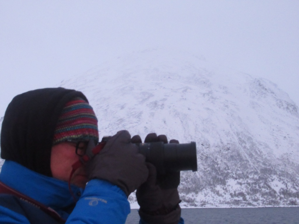 photo of me taking a photo near tromso