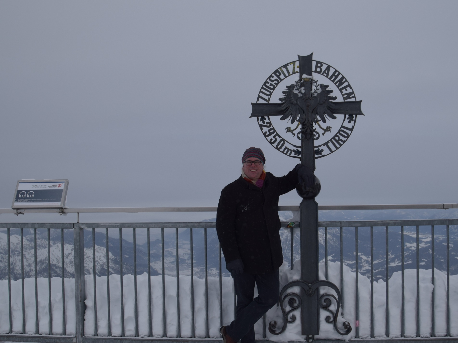 photo at the top of the zugspitze